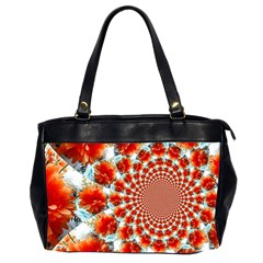 Stylish Background With Flowers Office Handbags (2 Sides)