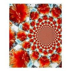 Stylish Background With Flowers Shower Curtain 60  x 72  (Medium)