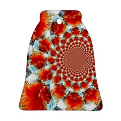Stylish Background With Flowers Bell Ornament (Two Sides)