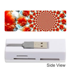Stylish Background With Flowers Memory Card Reader (stick)