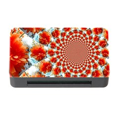 Stylish Background With Flowers Memory Card Reader with CF