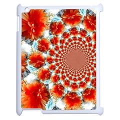 Stylish Background With Flowers Apple Ipad 2 Case (white)
