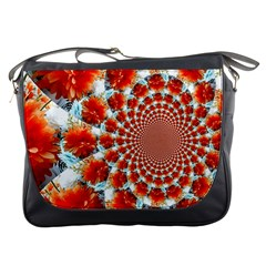Stylish Background With Flowers Messenger Bags