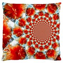 Stylish Background With Flowers Large Cushion Case (one Side)