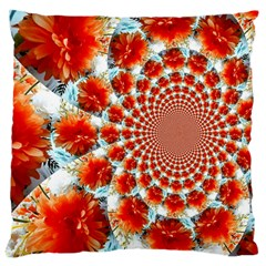 Stylish Background With Flowers Large Cushion Case (two Sides)