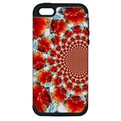 Stylish Background With Flowers Apple Iphone 5 Hardshell Case (pc+silicone)
