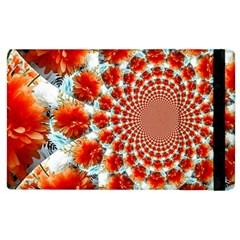 Stylish Background With Flowers Apple iPad 2 Flip Case