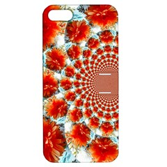 Stylish Background With Flowers Apple iPhone 5 Hardshell Case with Stand