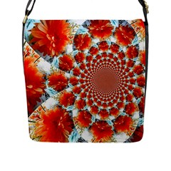 Stylish Background With Flowers Flap Messenger Bag (L)