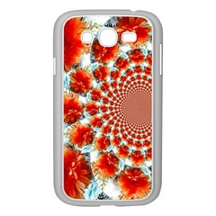Stylish Background With Flowers Samsung Galaxy Grand DUOS I9082 Case (White)