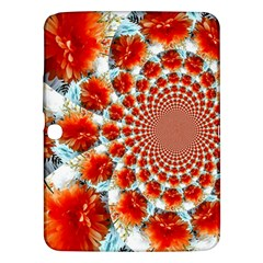 Stylish Background With Flowers Samsung Galaxy Tab 3 (10.1 ) P5200 Hardshell Case
