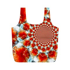 Stylish Background With Flowers Full Print Recycle Bags (m)