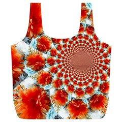 Stylish Background With Flowers Full Print Recycle Bags (L)