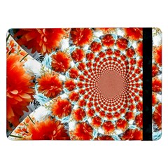 Stylish Background With Flowers Samsung Galaxy Tab Pro 12 2  Flip Case