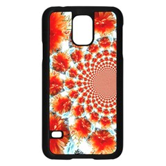 Stylish Background With Flowers Samsung Galaxy S5 Case (black)