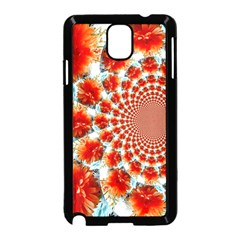 Stylish Background With Flowers Samsung Galaxy Note 3 Neo Hardshell Case (Black)