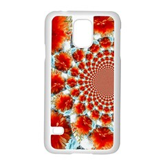 Stylish Background With Flowers Samsung Galaxy S5 Case (White)