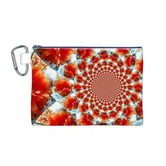 Stylish Background With Flowers Canvas Cosmetic Bag (M)