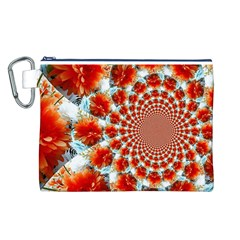Stylish Background With Flowers Canvas Cosmetic Bag (l)