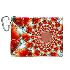 Stylish Background With Flowers Canvas Cosmetic Bag (XL)