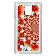 Stylish Background With Flowers Samsung Galaxy Note 4 Case (white)