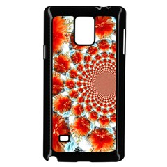 Stylish Background With Flowers Samsung Galaxy Note 4 Case (Black)