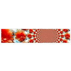 Stylish Background With Flowers Flano Scarf (small)