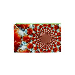 Stylish Background With Flowers Cosmetic Bag (xs)