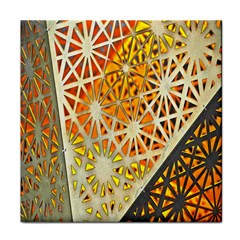 Abstract Starburst Background Wallpaper Of Metal Starburst Decoration With Orange And Yellow Back Tile Coasters