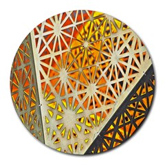 Abstract Starburst Background Wallpaper Of Metal Starburst Decoration With Orange And Yellow Back Round Mousepads