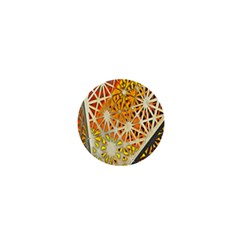 Abstract Starburst Background Wallpaper Of Metal Starburst Decoration With Orange And Yellow Back 1  Mini Magnets