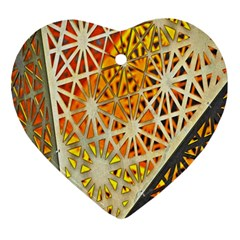 Abstract Starburst Background Wallpaper Of Metal Starburst Decoration With Orange And Yellow Back Ornament (heart)