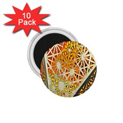 Abstract Starburst Background Wallpaper Of Metal Starburst Decoration With Orange And Yellow Back 1.75  Magnets (10 pack)