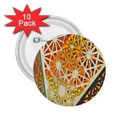 Abstract Starburst Background Wallpaper Of Metal Starburst Decoration With Orange And Yellow Back 2 25  Buttons (10 Pack)