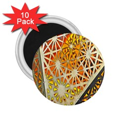 Abstract Starburst Background Wallpaper Of Metal Starburst Decoration With Orange And Yellow Back 2.25  Magnets (10 pack)