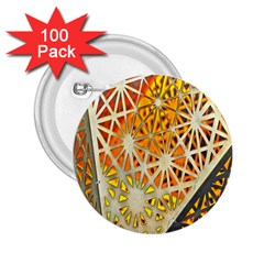 Abstract Starburst Background Wallpaper Of Metal Starburst Decoration With Orange And Yellow Back 2 25  Buttons (100 Pack)