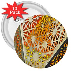 Abstract Starburst Background Wallpaper Of Metal Starburst Decoration With Orange And Yellow Back 3  Buttons (10 Pack)