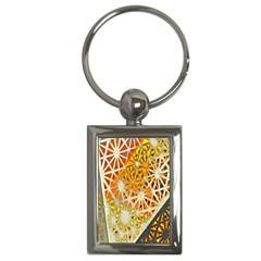 Abstract Starburst Background Wallpaper Of Metal Starburst Decoration With Orange And Yellow Back Key Chains (rectangle)