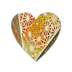 Abstract Starburst Background Wallpaper Of Metal Starburst Decoration With Orange And Yellow Back Heart Magnet