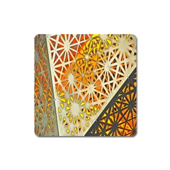 Abstract Starburst Background Wallpaper Of Metal Starburst Decoration With Orange And Yellow Back Square Magnet