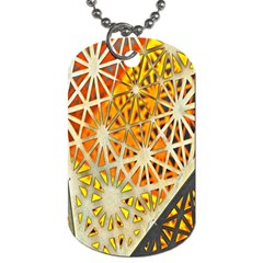 Abstract Starburst Background Wallpaper Of Metal Starburst Decoration With Orange And Yellow Back Dog Tag (Two Sides)