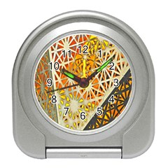 Abstract Starburst Background Wallpaper Of Metal Starburst Decoration With Orange And Yellow Back Travel Alarm Clocks