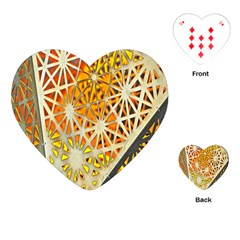 Abstract Starburst Background Wallpaper Of Metal Starburst Decoration With Orange And Yellow Back Playing Cards (Heart)