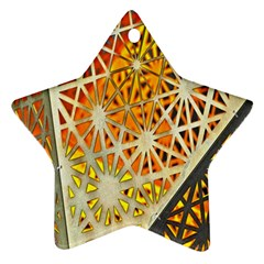 Abstract Starburst Background Wallpaper Of Metal Starburst Decoration With Orange And Yellow Back Star Ornament (Two Sides)