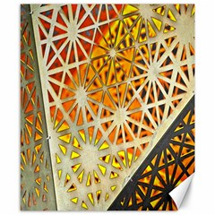 Abstract Starburst Background Wallpaper Of Metal Starburst Decoration With Orange And Yellow Back Canvas 8  x 10