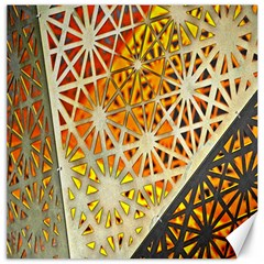 Abstract Starburst Background Wallpaper Of Metal Starburst Decoration With Orange And Yellow Back Canvas 12  x 12