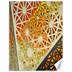 Abstract Starburst Background Wallpaper Of Metal Starburst Decoration With Orange And Yellow Back Canvas 12  x 16