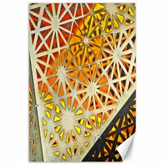 Abstract Starburst Background Wallpaper Of Metal Starburst Decoration With Orange And Yellow Back Canvas 24  x 36