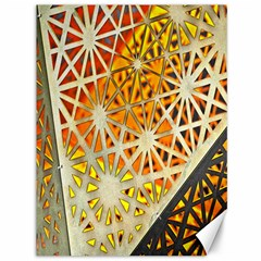 Abstract Starburst Background Wallpaper Of Metal Starburst Decoration With Orange And Yellow Back Canvas 36  x 48