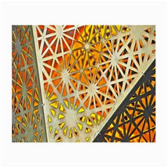 Abstract Starburst Background Wallpaper Of Metal Starburst Decoration With Orange And Yellow Back Small Glasses Cloth (2 Side)